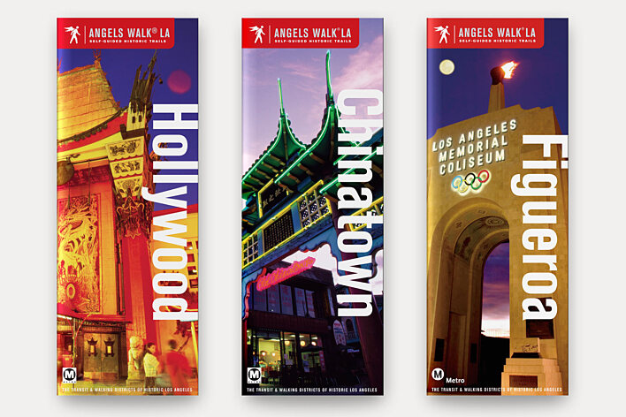Angels Walk LA sample guidebook covers