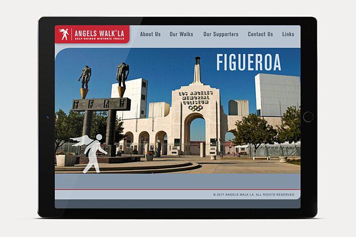 Angels Walk LA website home page