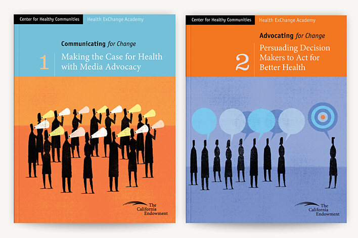 Health ExChange Academy textbook covers - The California Endowment