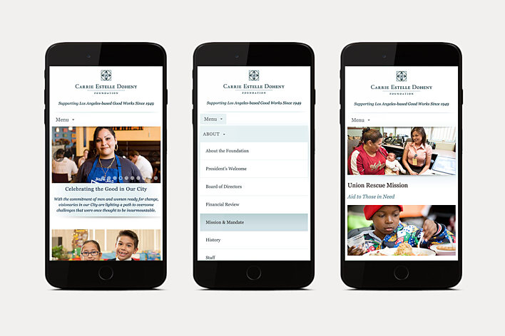 Carrie Estelle Doheny Foundation mobile site