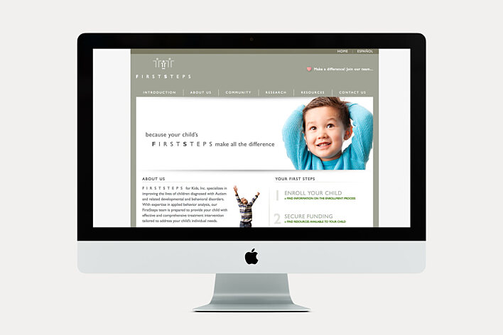 First Steps for Kids Website