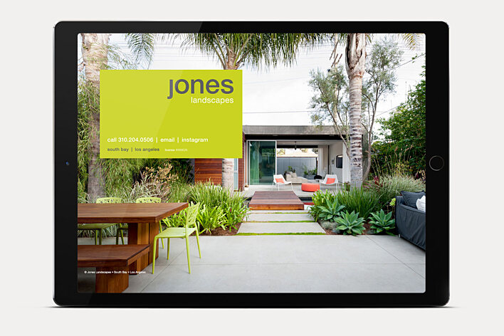 Jones Landscapes website home page