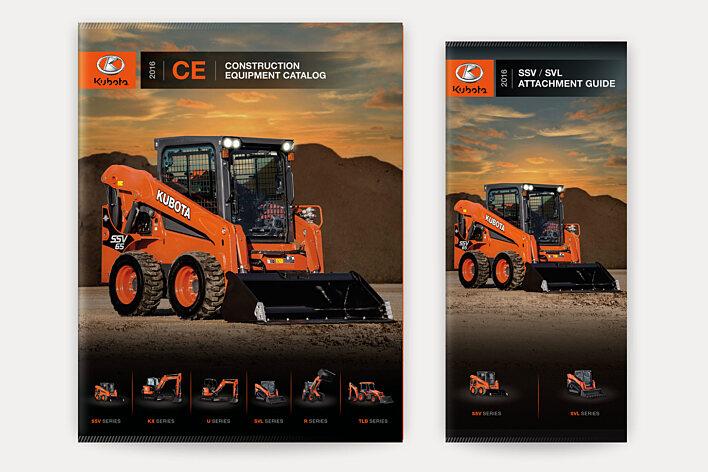 Kubota construction equipment catalogs