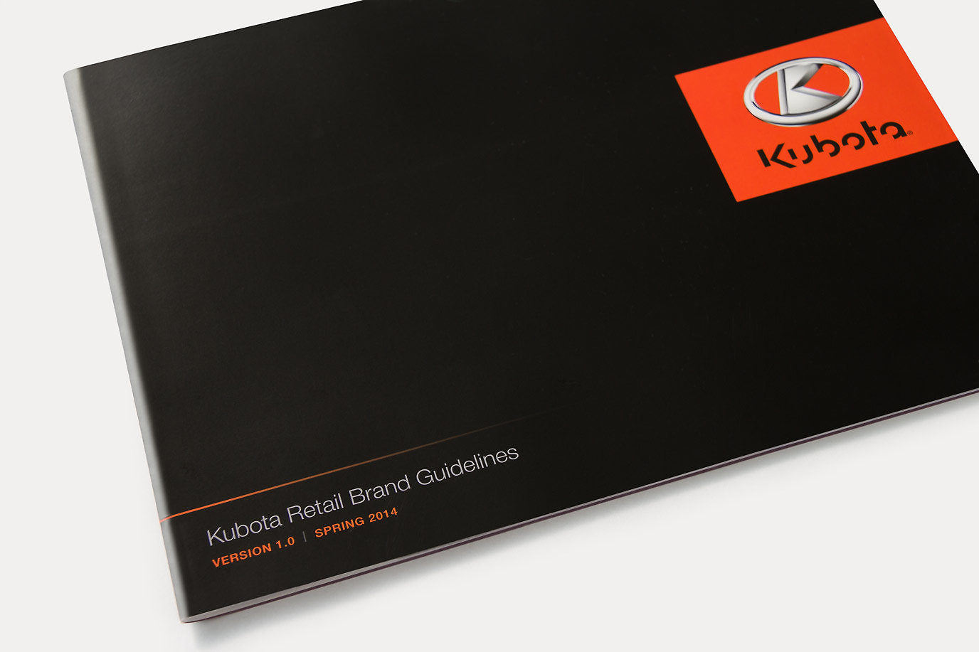 Kubota Retail Brand Guidelines cover