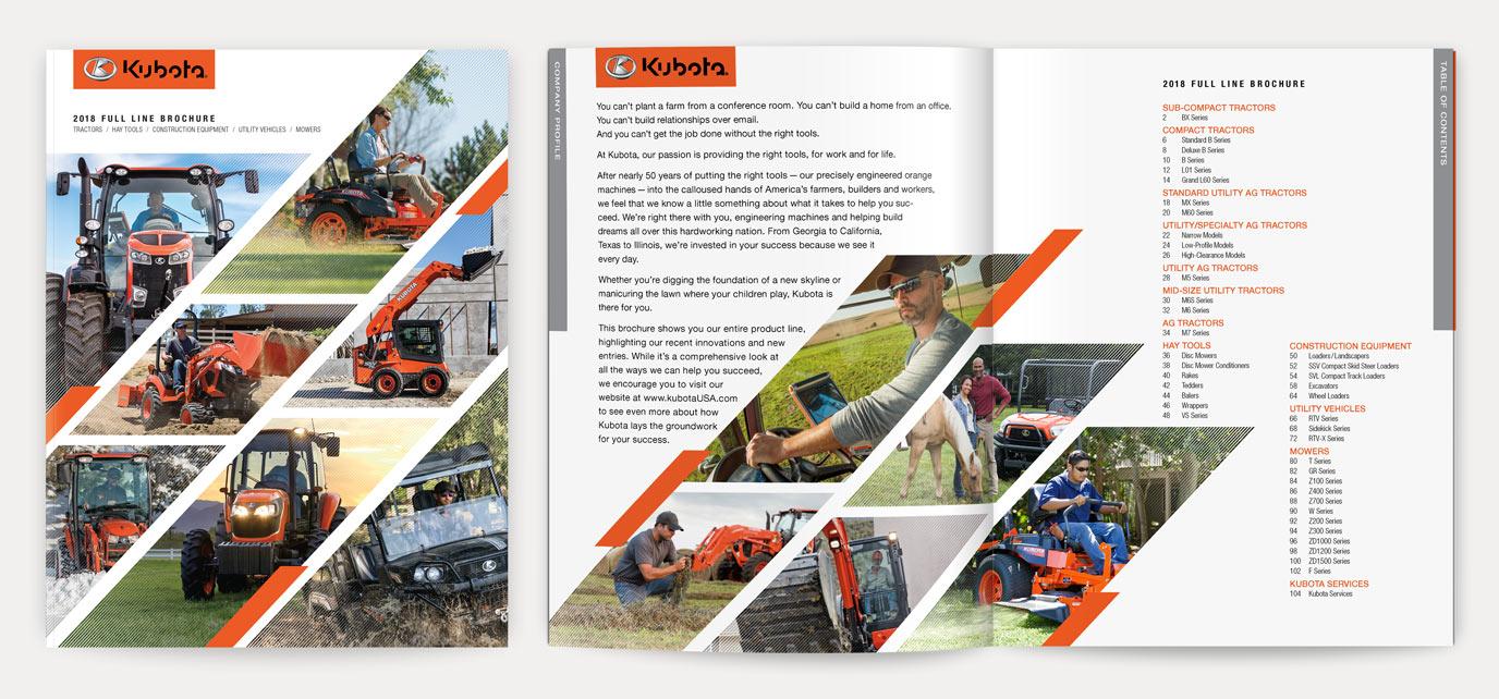 Kubota Full Line Catalog - Cover & TOC