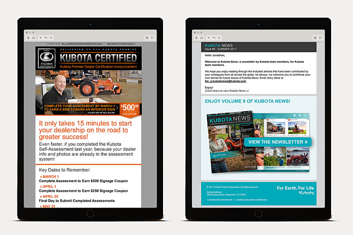 Kubota Email Campaigns