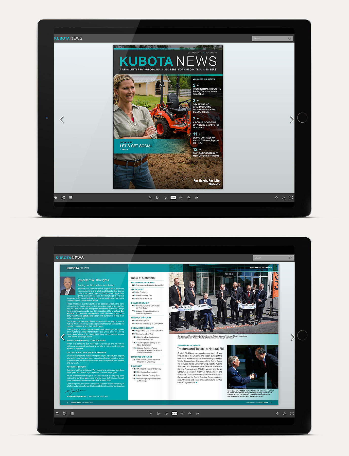 Kubota Digital Newletter