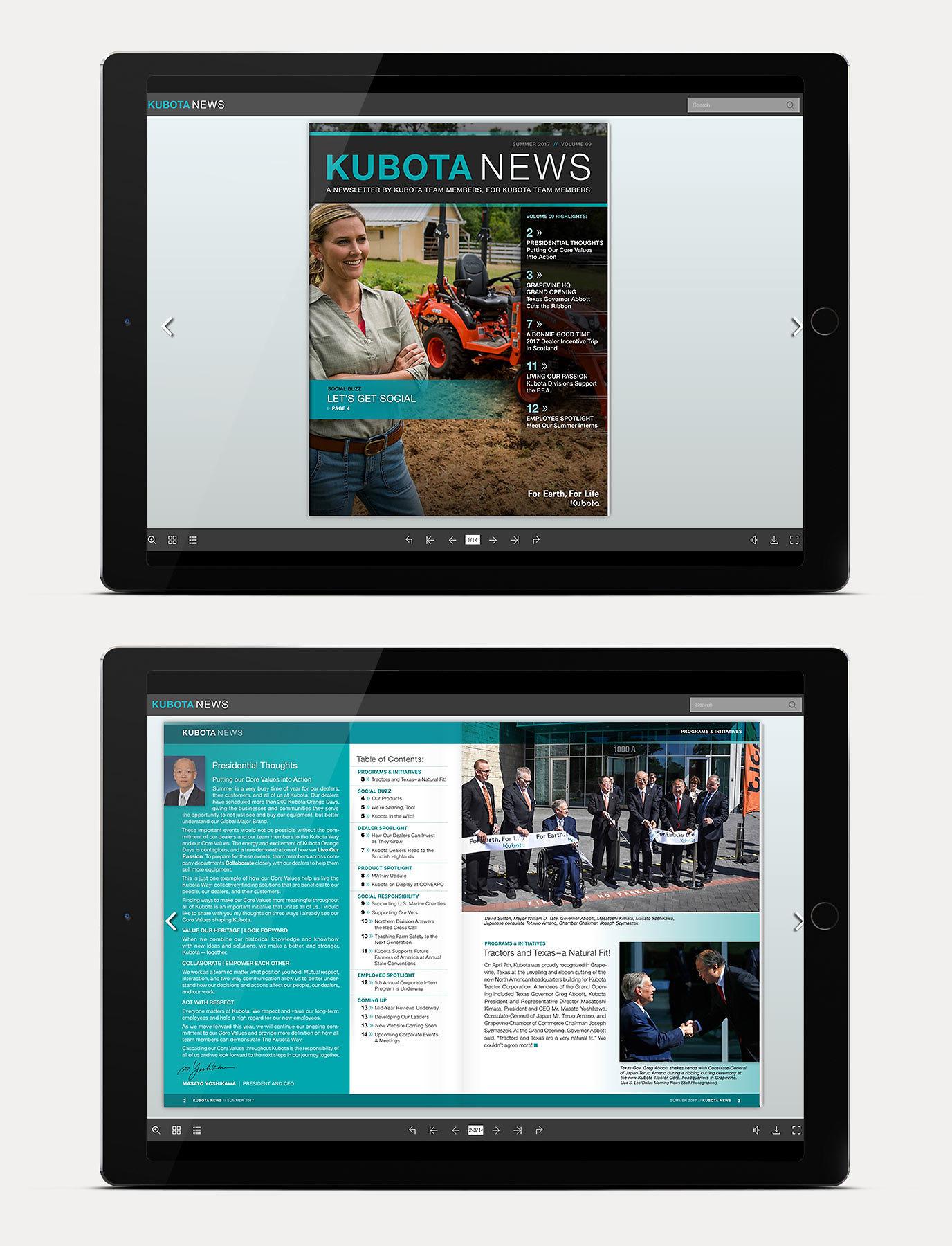 Kubota Digital Newletter
