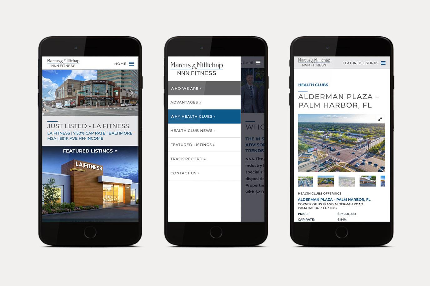 NNN Fitness - Website Mobile Views