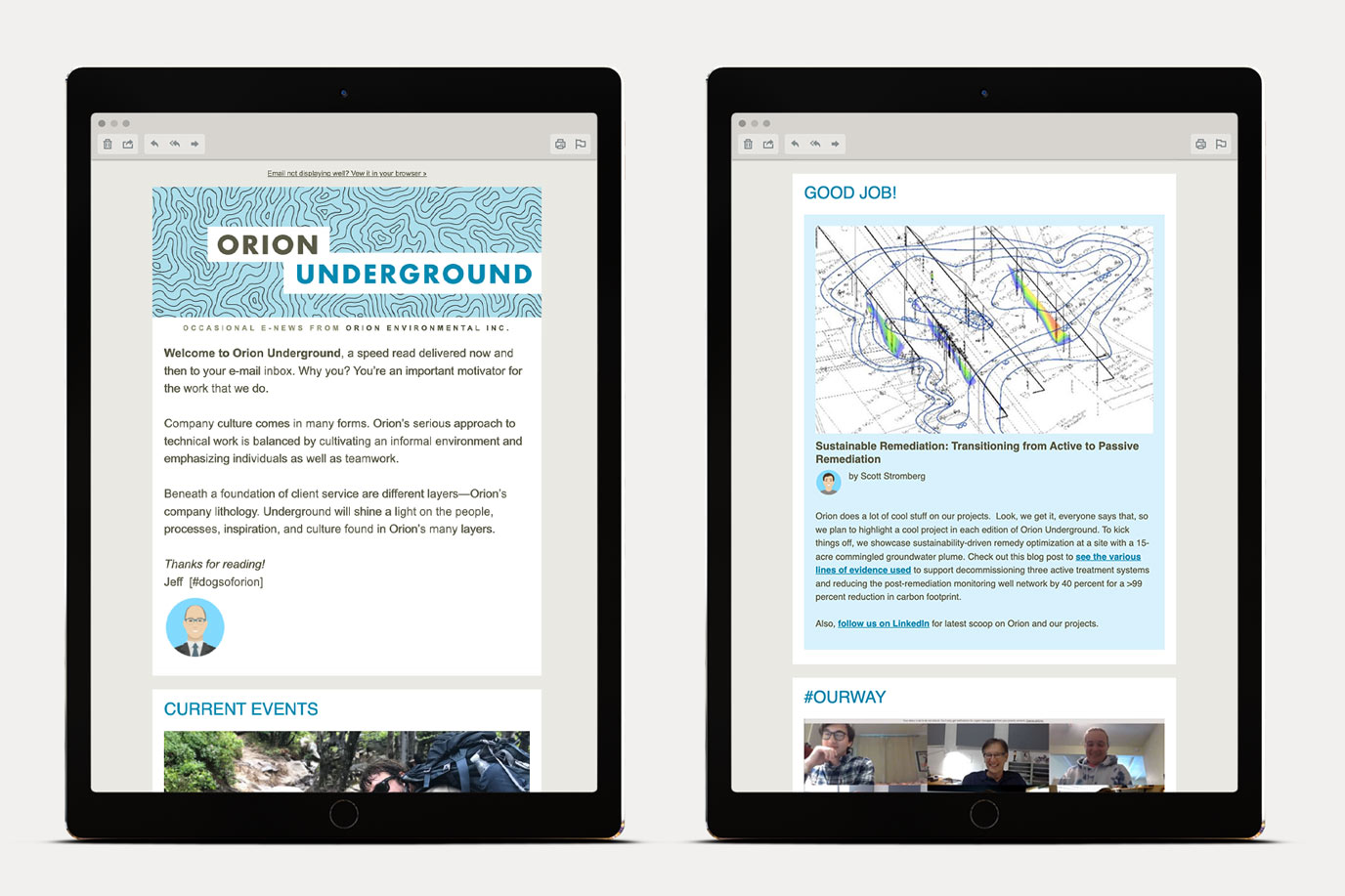 Orion Environmental Email Newsletter Template