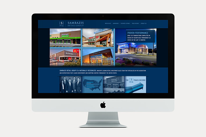 Commercial Real Estate website - Sambazis Retail Group