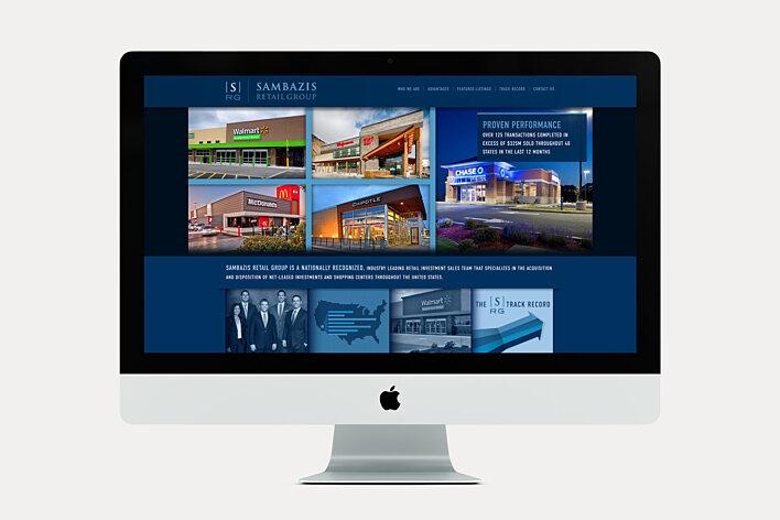 Commercial Real Estate website - Sambazis Retail Group