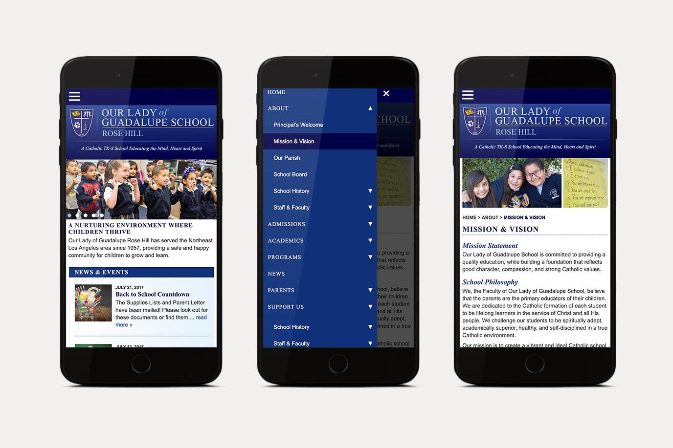Catholic School Mobile Website