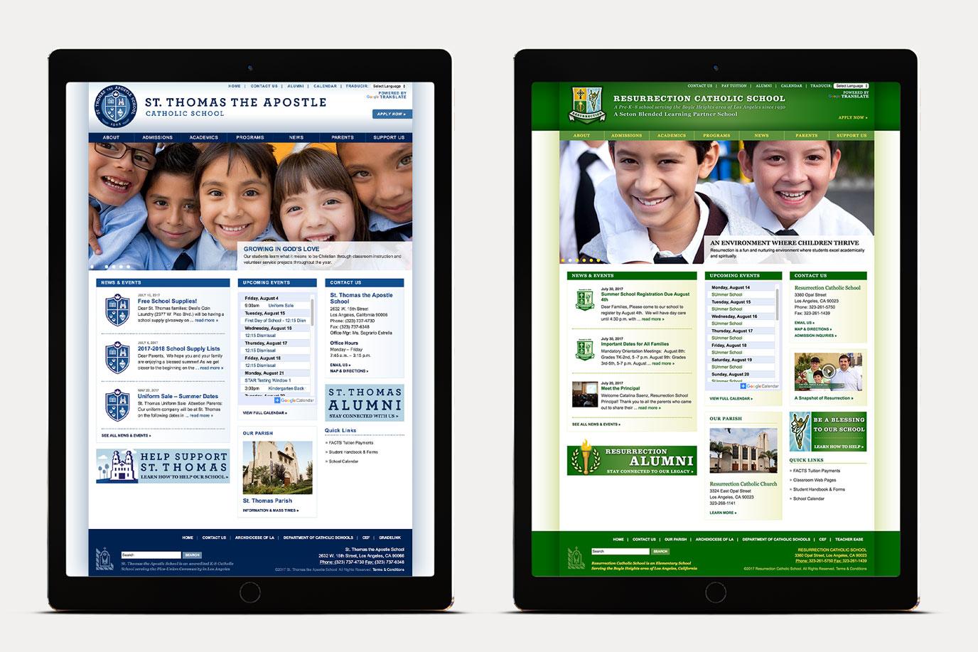 Catholic School Website