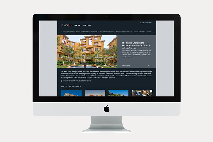 The Harris Group website home page