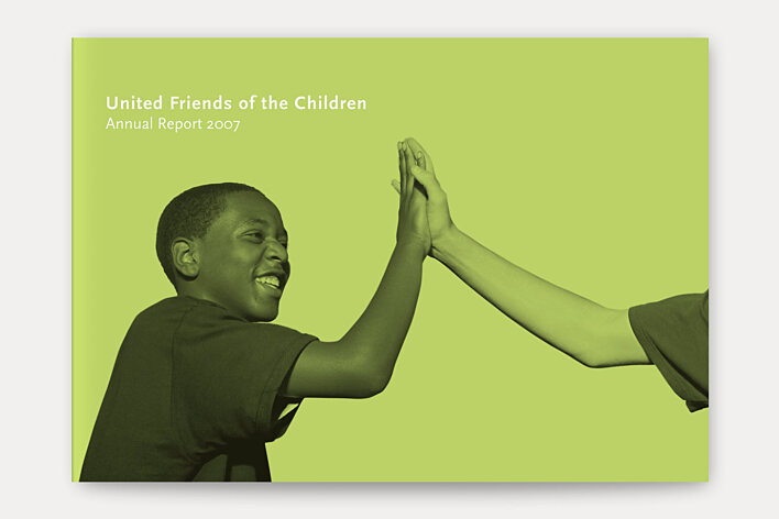 United Friends of the Children 2007 annual report cover