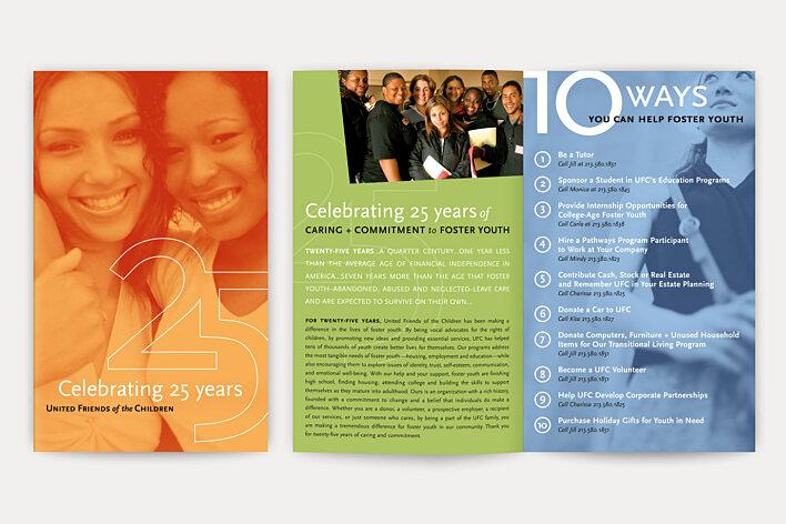 United Friends of the Children 25th anniversary brochure